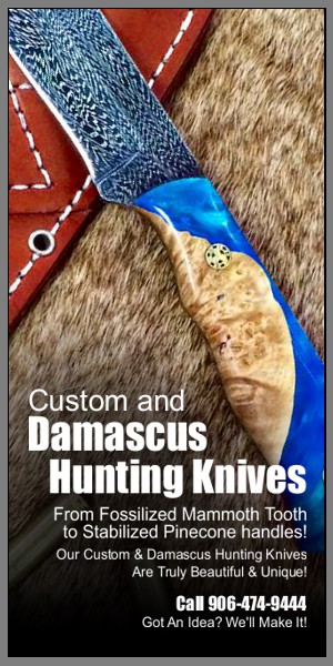 Damascus Hunting Knife | Rapid River Knifeworks