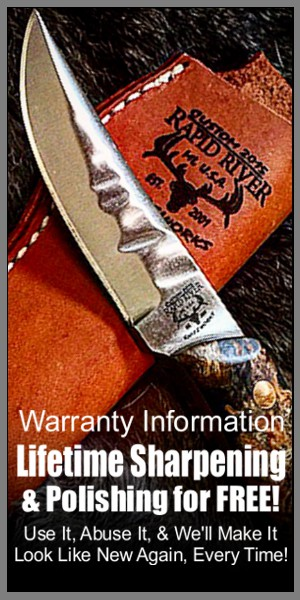 Knife Sharpening Warranty | Rapid River Knifeworks