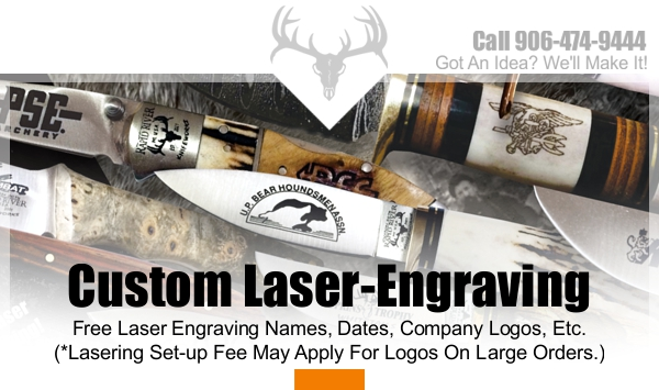 Laser Engraved Pocket Knives | Rapid River Knifeworks Knife Store