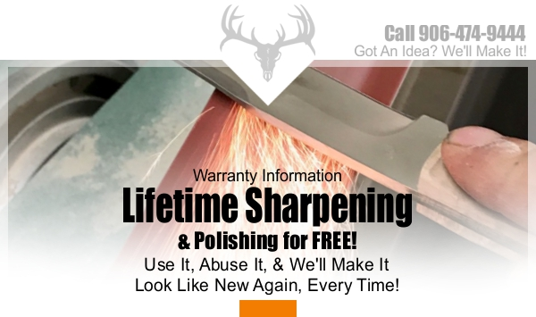 Knife Sharpening Warranty | Rapid River Knifeworks Knife Store