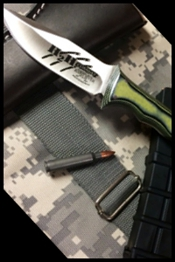 Fixed combat bowie knife